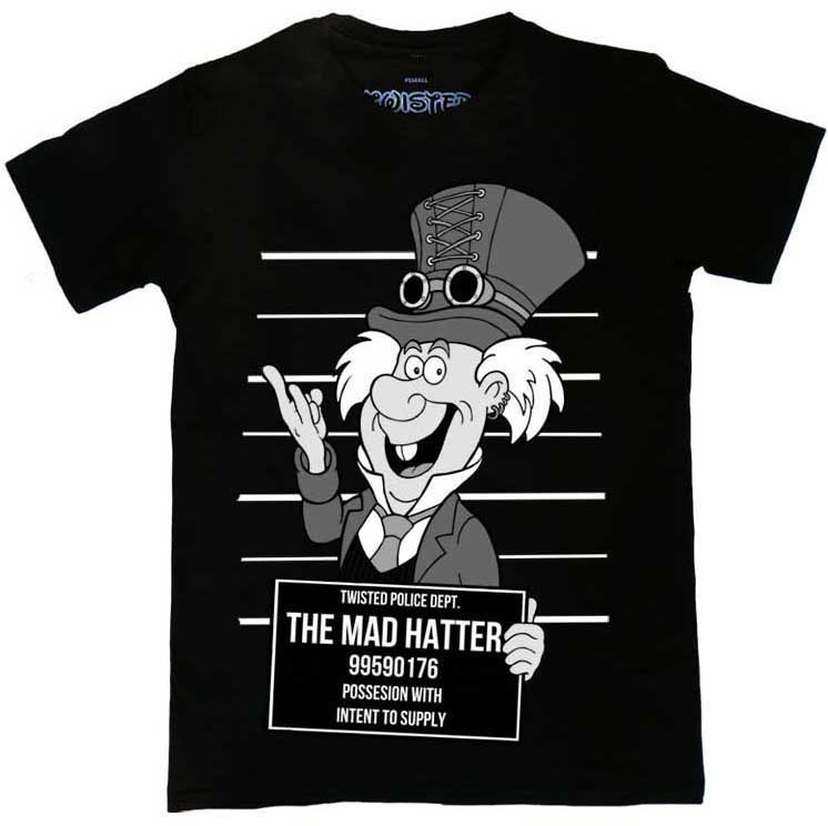 Twisted Alternative Steampunk Mad Hatter Mug Shot T Shirt