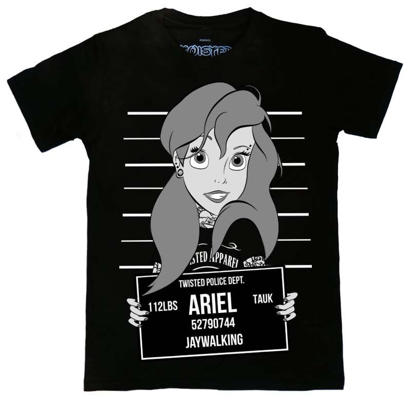 Twisted Ariel Little Mermaid Mugshot T-Shirt