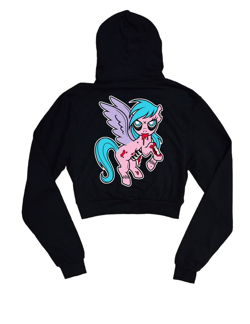 My Litttle Twisted Pony Cropped Hoodie