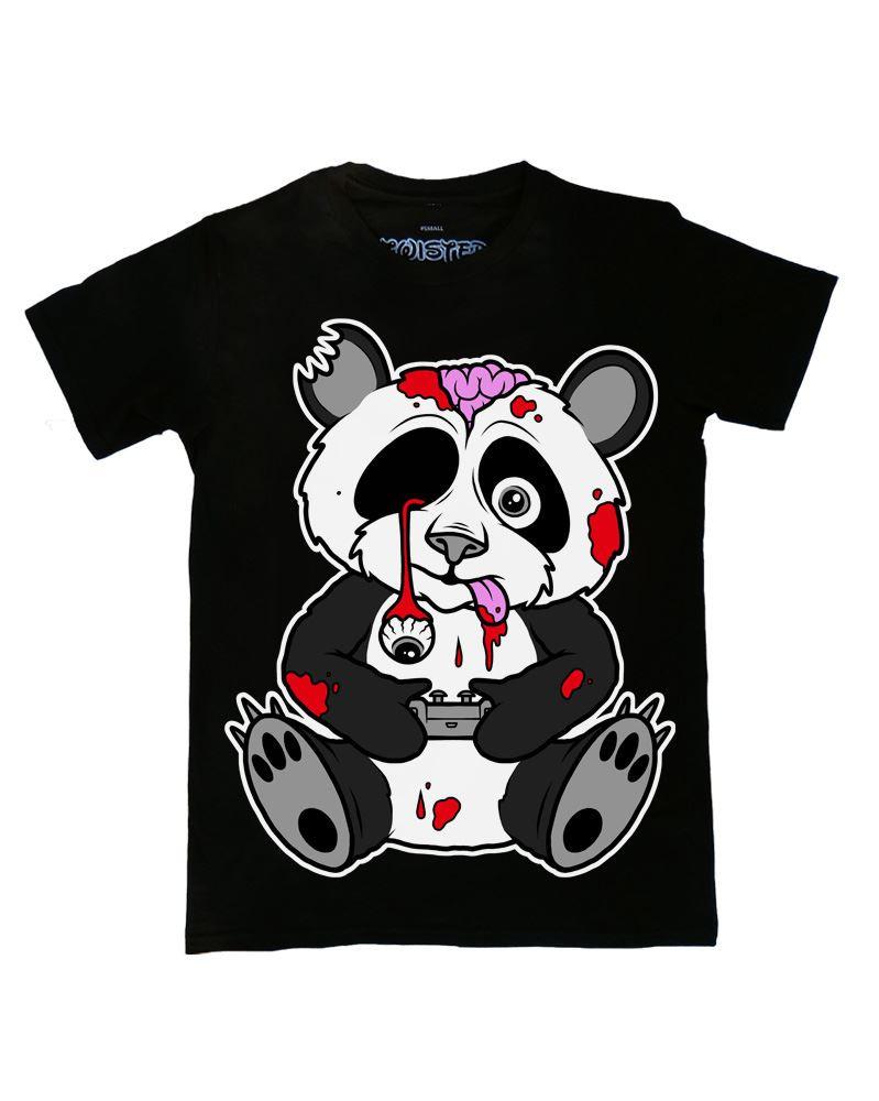 Twisted Zombie Panda T Shirt