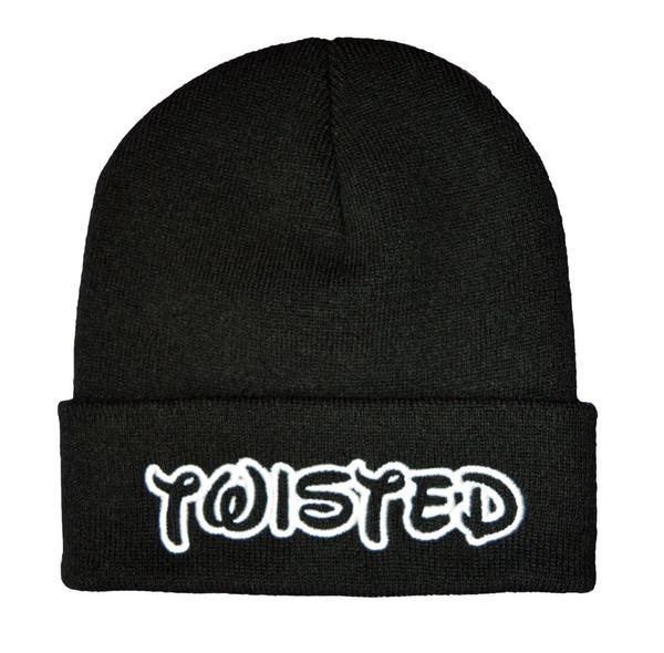 Twisted apparel logo winter beanie hat