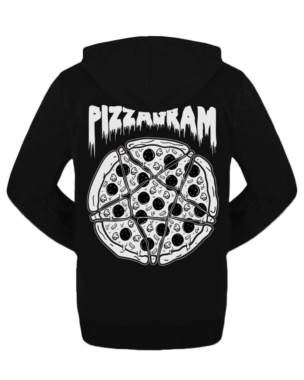 Pizzagram Gothic Zipped Hoodie