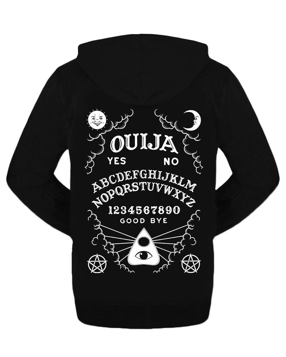 Ouija Board  Zipped Hoodie