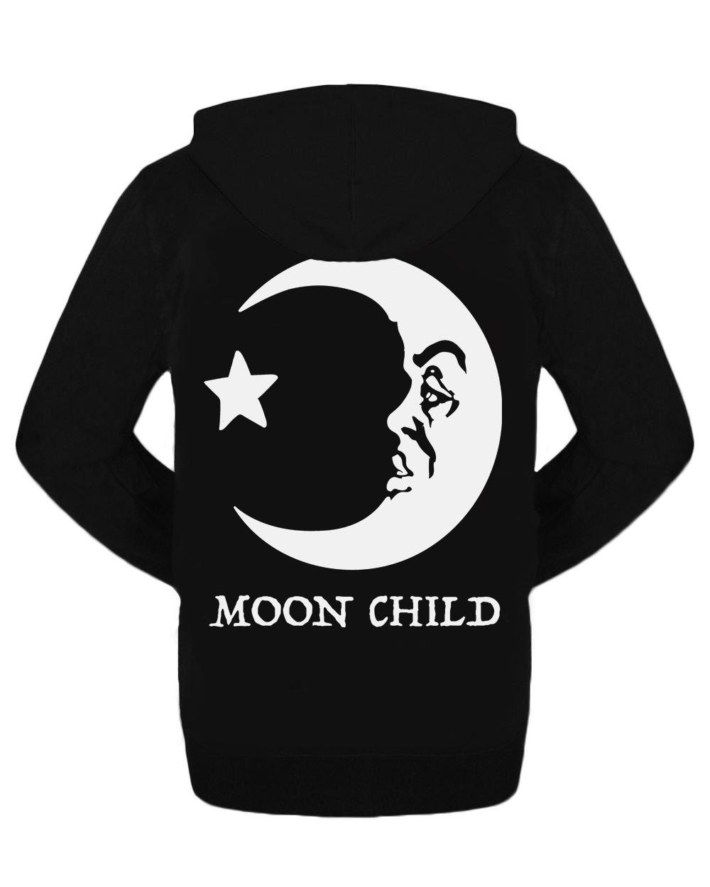 Moon Child Zipped Hoodie