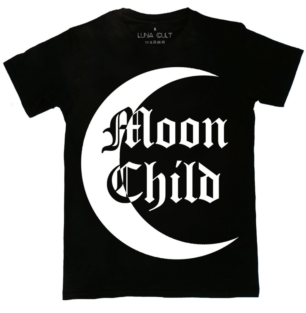 Moon Child Contrast T Shirt