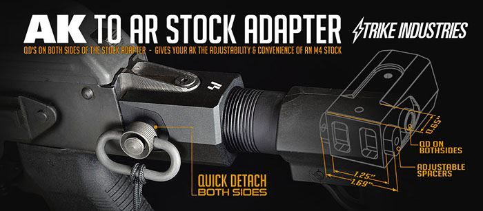 Strike Industries AK Stock Adapter