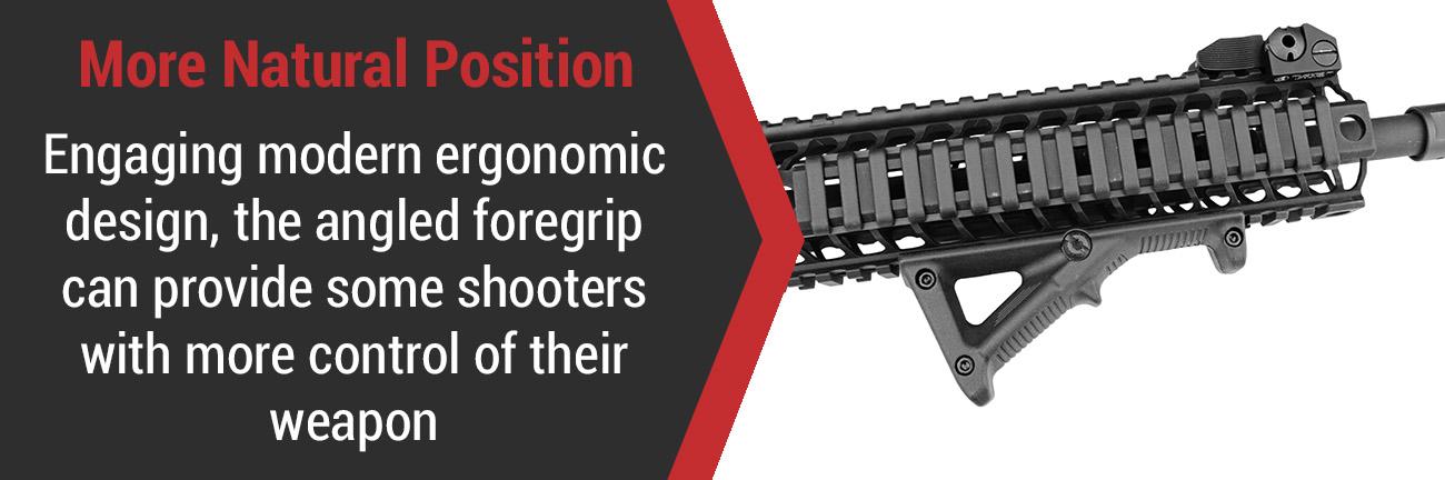 Angled Grip on AR-15