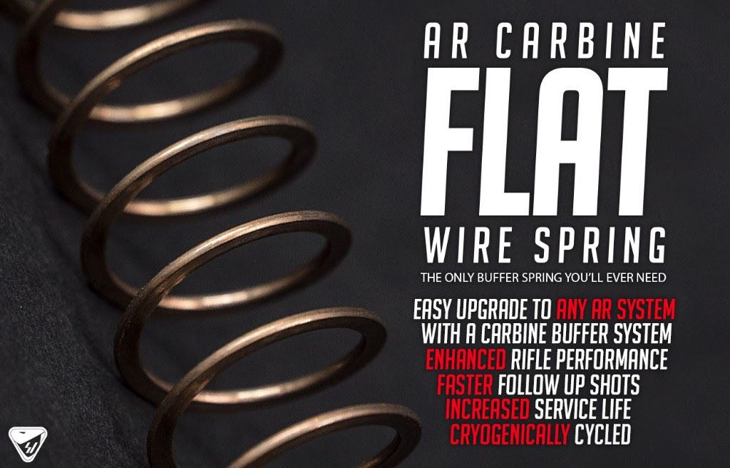 Strike Industries Flat Wire Buffer Spring for AR-15 Carbine | Wing ...