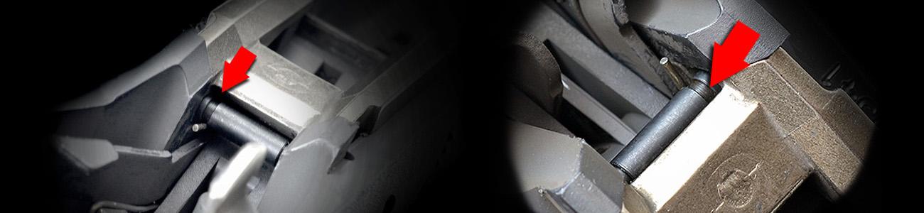 Strike Industries Enhanced Pin Kit with Anti-walk Locking Block Pin for Glock