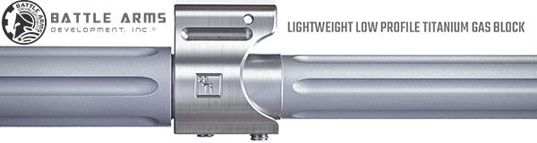 Battle Arms Development Titanium Gas Block