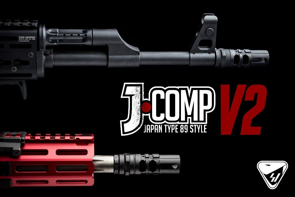 Strike Industries J-Comp V2 features 2 new ports for increased muzzle rise compensation