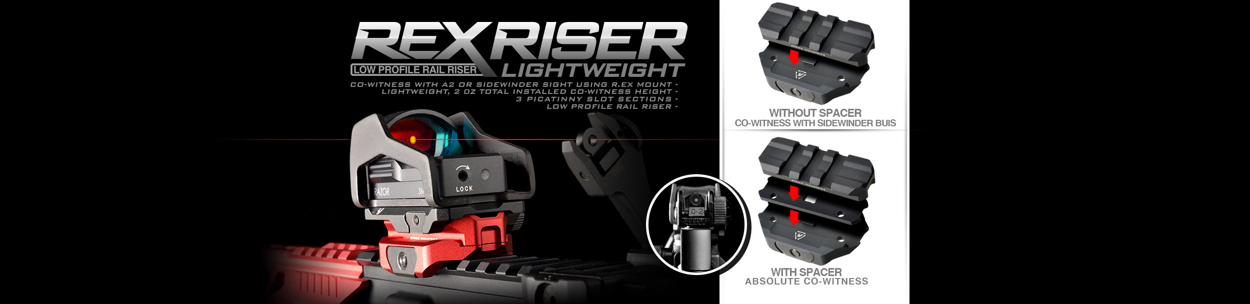Strike Industries R.EX Riser Mount