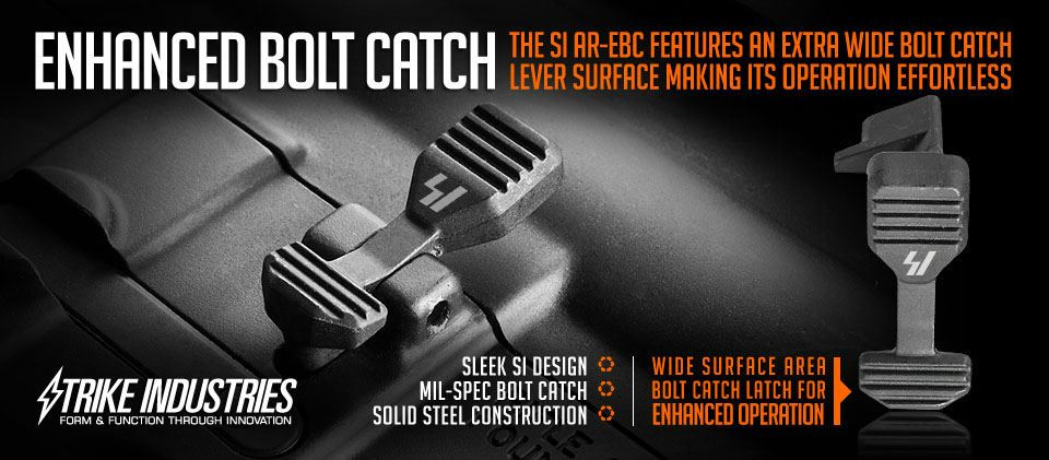 Strike Industries Enhanced Bolt Catch on AR-15