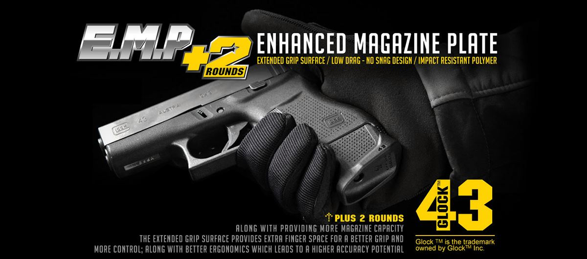Magazine Plate Extension for Glock 43 | Grip Extension