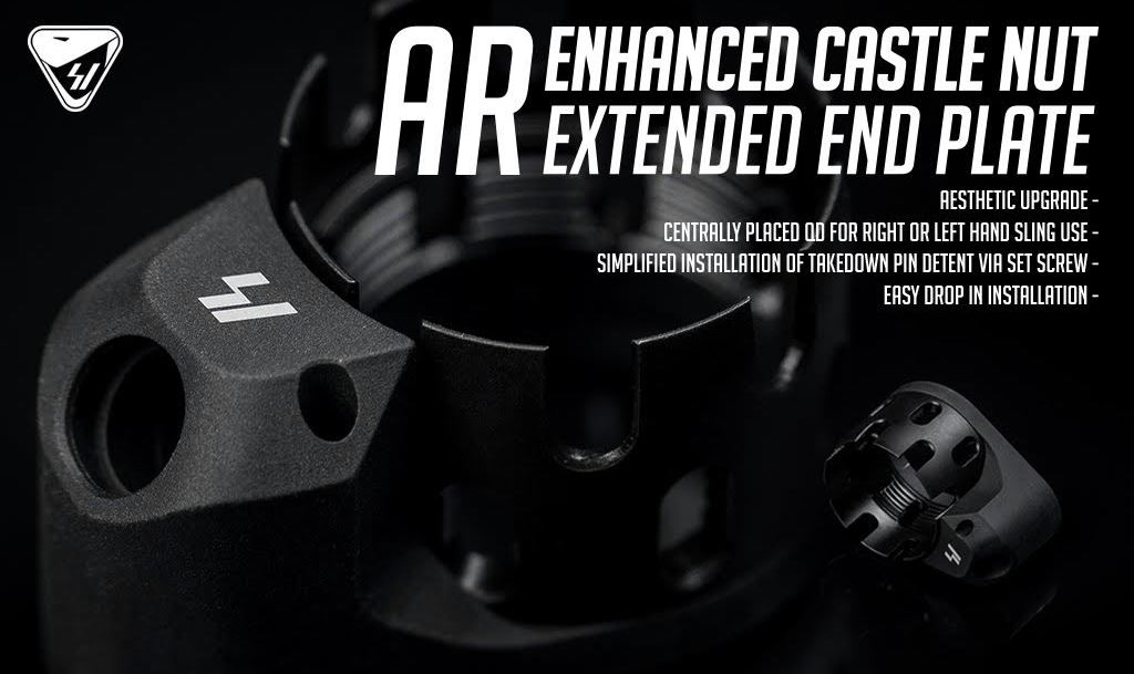Strike Industries Enhanced Castle Nut (ECN) and Extended End Plate (EEP) Kit