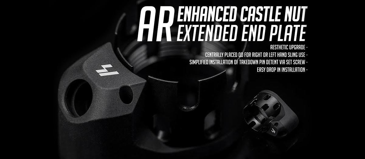Strike Industries Enhanced Castle Nut (ECN) and Extended End Plate (EEP) Kit