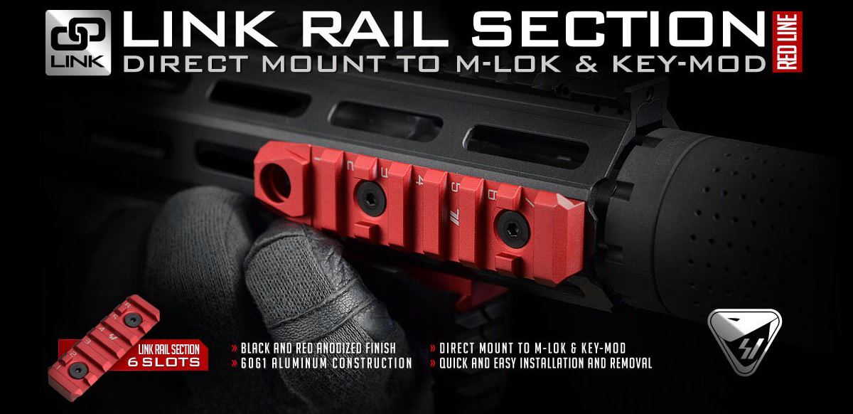 Strike Industries LINK Rail Section (Red Line)