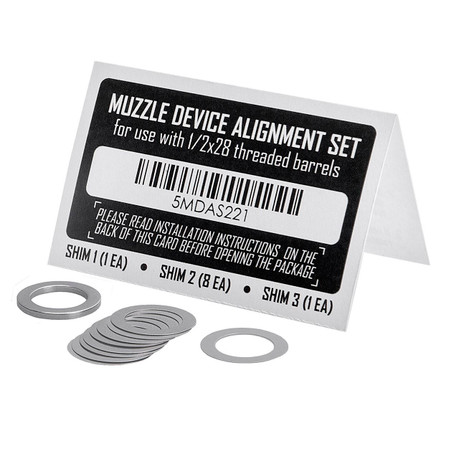 Primary Weapons Systems 1/2x28 Muzzle Device Alignment Shim Kit