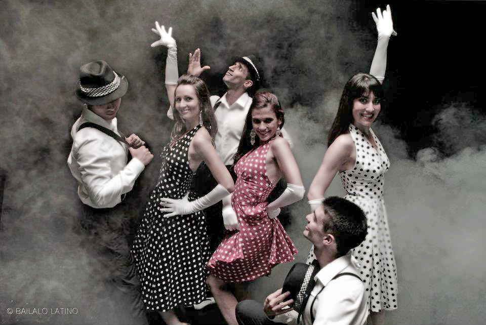 Polka Dot Dresss Vintage Inspired for Dance Troup