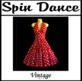 Spin Dance Full Circle Red and White Polka Dot Halter Dress