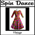 Full Circle 3/4 Sleeve Dress Multi Flowers