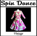Full Circle 3/4 Sleeve Dress Pink Floral on White