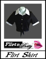 Flirt Shirt Tie-Up Black with White Trims