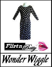 Wonder Wiggle Black/White Polka Dots