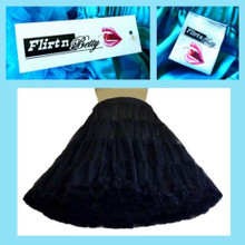 Extra Full Flirtn Betty Petticoat Black