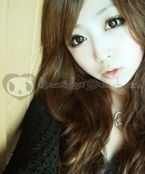 HC-106 Hurricane (Twilight) Chocolate Brown colored contact lenses.