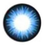 Geo Bella Blue BS202 circle lens design detail.