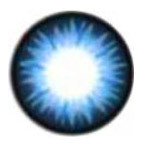 Geo BS202 Bella Blue circle lens design detail.