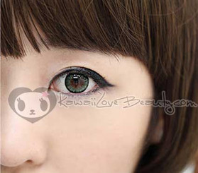 BS-203 Bella Green colored circle lens by Geo.