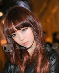 Model photo, Berry Holic Grey circle lenses by Geo. Fast shipping from the USA!