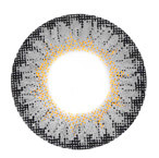 Circle lens design detail of CM-955 Geo Berry Holic Grey soft lenses.