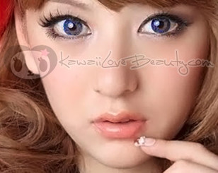 Berry Holic Tri-Color Sapphire Blue CM-952 soft contact lenses by Geo.