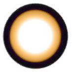 Geo WIA24 Sakura Brown circle lens design detail.