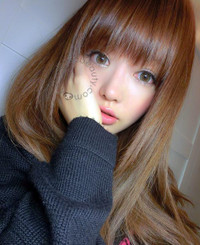 Xtra Berry Tricolor blend brown colored circle contact lenses.