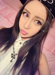 Xtra Berry Tricolor blend pink colored circle contact lenses.