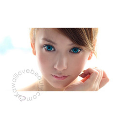 Dolly Eye Twilight Turquoise soft colored contact lenses.