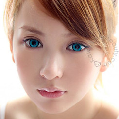 Twilight Turquoise circle lenses by the Dolly Eye (EOS).