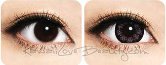 Bigger eyes with pretty pink color. Geo WFL-A37 Morning Glory Pink colored contact lenses.