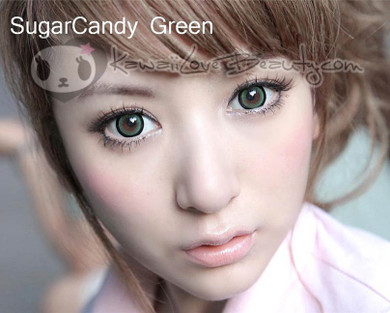 Circle lenses in Dolly Eye Sugar Candy Green.