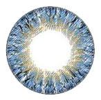 Detail of design on Geolica Lady Cobalt Blue 14.2mm circle lenses.