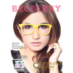 Beuberry Kitten Eyes brown authentic circle lenses at kawaiilovebeauty.com