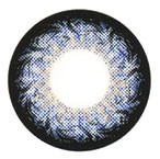 Circle lens design detail on Geolica Holicat - Funky Cat Blue.