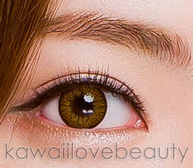 Detail, Colors of the Wind Caramel Brown circle lens