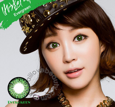 Opaque color and dolly eyes with Evergreen Colors of the Wind circle lenses