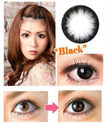 Before and after Dolly Eye Circle Black circle lenses