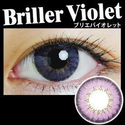 Natural-looking and soulful purple eyes with EOS Briller Violet circle lenses.